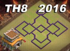 Clash of Clans TH8 2016 WAR BASE База ТХ8 для кв