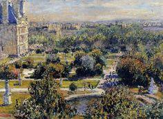 Les Tuileries C Monet - 1876.