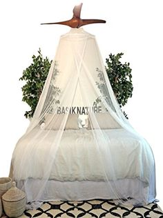 Luxurious Mosquito Net for Queen  King Bed The Best Insect Protection Inside a Romantic White Tropical Mesh Netting * Read more reviews of the product by visiting the link on the image.-It is an affiliate link to Amazon. #Sofa