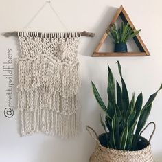 Macrame Wall Hanging - Instagram: @prettywildfibers #macrame #wallhanging #bohoinspo #jungalowstyle #plantsmakepeoplehappy