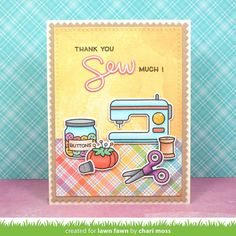 Lawn Fawn Clear Stamps, Sewn With Love -