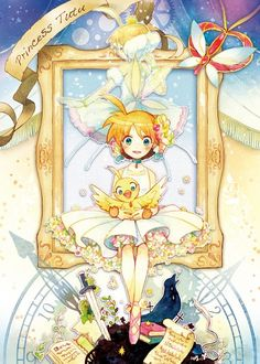 Ahiru, by Kuzira Kirara Manga Anime, Anime Couples Manga, Manga Girl, Pretty Art, Cute Art, Princess Tutu Anime, Princesa Tutu, Japanese Animated Movies, Mermaid Melody