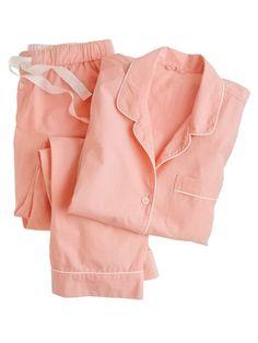 Shop the Vintage short-sleeve pajama set at J.Crew and see the entire selection of Women's Pajamas & Intimates Pijamas Women, Cute Pjs, Cotton Sleepwear, Cotton Pyjamas, Cozy Pajamas, Vintage Shorts, Vintage Lingerie, Pajama Set, Korean Fashion
