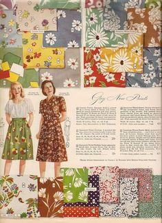 1940s fabric swatches