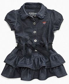 Baby Girl Clothes at Macy's - Denim Ruffle - Guess
