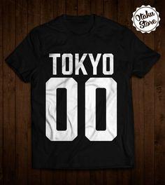 "Anime t-shirt ""Tokyo"". Anime DTG print."