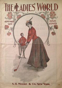 The Ladies' World Magazine Sep 1900 Lady Golfer Cover