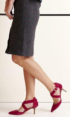 mid heel in soft genuine materials