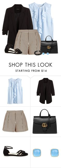 """""""Formal shorts (outfit only)"""" by blueeyed-dreamer ❤ liked on Polyvore featuring H&M, 3.1 Phillip Lim, Gucci, Latelita, Belk & Co. and outfitonly"""