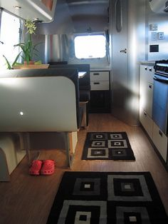 Airstream caravan interior. I would get rid of the shoes.