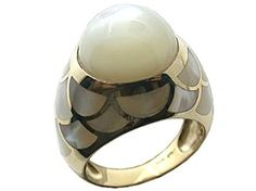 Fish scale pearl ring at amazon