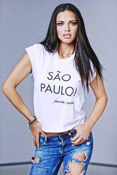 ADRIANA LIMA, blogger, White T-shirt, tshirt, tee shirt, actress, model, singer, hot, celebrity