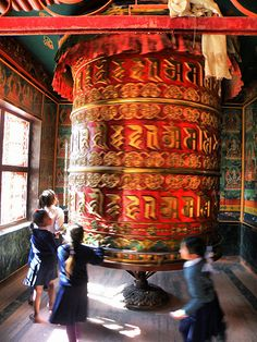 Prayer wheel . Nepal