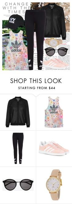 """Change With Time"" by raincheck ❤ liked on Polyvore featuring Topshop, adidas Originals, Ivy Park, Yves Saint Laurent and Kate Spade"