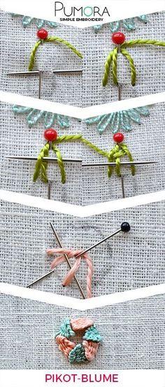 Blumen Sticken: 3D Blumen