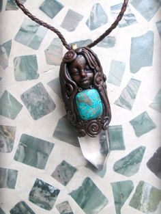 Sea spiral Goddess Necklace with by dreamsofancientsun on Etsy