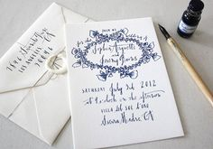 Linea Carta Calligraphy via Oh So Beautiful Paper