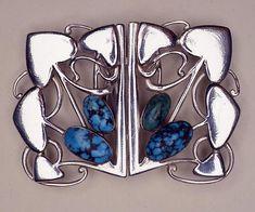Archibald Knox, silver buckle, 1903