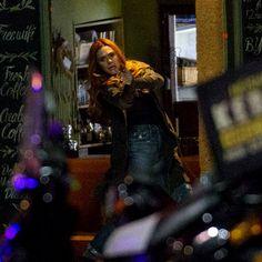 Elizabeth Olsen as Wanda Maximoff on set of Avengers: Infinity War (April 21st)
