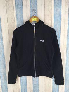 The NORTH FACE Hoodie Sweatshirt Women Medium Sportswear Vintage 90s North  Face Zipper Jacket Black Hoodie Sweater Size M 754599b0b