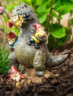 Love this nerdy play on a traditional garden gnome.