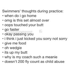 Thoughts when swimming