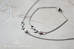 jitkita / sada z chirurgické oceli s perlou - infinity