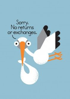 No Returns Or Exchanges | Mother's Day  #newbaby #baby #pregnant