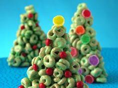 Cheerios® Christmas Trees recipe from Betty Crocker