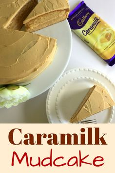 A delicious decadent and rich mudcake using Caramilk Chocolate. This easy and simple cake recipe will become a firm favourite. Easy Cake Recipes, Sweet Recipes, Baking Recipes, Dessert Recipes, Caramel Recipes, Chocolate Recipes, Cadbury Recipes, Caramel Mud Cake, Delicious Desserts