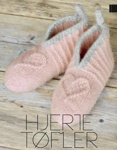 Opskrift Hjerte tøfler Pretty Nails, Slippers, Footwear, Socks, Knitting, Sewing, How To Make, Gifts, Handmade