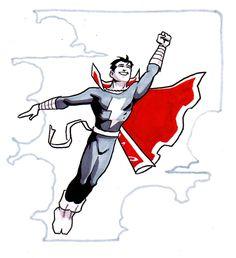 by Matt Wagner, in Zack Smith's Big Pieces Comic Art Gallery Room Captain Marvel Shazam, Marvel Dc, American Comics, Comic Artist, Will Smith, Art Gallery, Batman, Comic Books, Hero