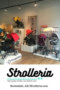 Strolleria is the baby-gear store that offers both big-box selection and the boutique experience. Visit our new, family-owned store in Scottsdale, AZ to shop for high-quality strollers, car seats and baby products from Bugaboo, Clek, Mima, Nuna, Stokke, UPPAbaby and more!