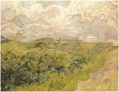 Vincent van Gogh (Dutch Post-Impressionist painter, 1853–1890) Green Wheat Fields, Auvers, 1890. Oil on canvas, 72.39 × 91.44 cm (28 1/2 × 36 in). Collection of Mr. and Mrs. Paul Mellon. National Gallery of Art, Washington, DC.