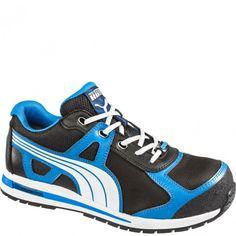 dbf9ff53840c 643025 Puma Men s Aerial Low Safety Shoes - Black Blue www.bootbay.com