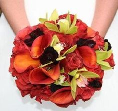 Beautiful October Wedding Flowers