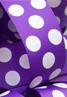 purple polka dot ribbon