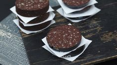 Traditional Black pudding is a blend of onions, pork fat, oatmeal, flavourings - and blood (usually from a pig).