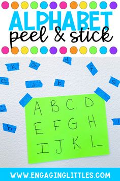 Peel and Stick Alphabet is a great simple prep activity for preschoolers. This hands-on idea works on building fine motor skills and letter recognition. Check out the post to watch the HOW TO video. Preschool Fine Motor Skills, Preschool Learning Activities, Preschool Lessons, Preschool Letter Crafts, Alphabet Activities, Letter Recognition Games, Hands, Carousel, Kindergarten