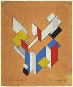Theo van Doesburg, space time construction 3, 1923