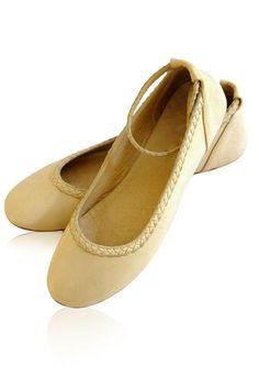 ELF. Handmade flat leather shoes.