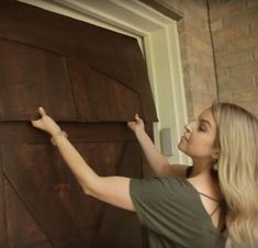GarageSkins Give You a Wood Look Without the Cost Update your garage door with some simple wood panels or paint. Sliding Garage Doors, Garage Door Paint, Garage Door Panels, Wooden Garage Doors, Garage Door Styles, Garage Door Makeover, Garage Door Design, Faux Wood Garage Door Diy, Exterior Makeover