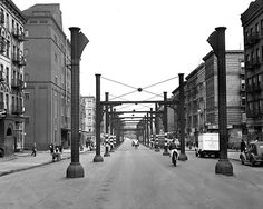 1940, In a view north from106th Street,