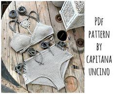 PDF-file for Crochet PATTERN Aliyah Crochet Bikini Top and