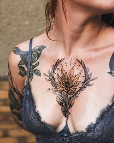 109 Flower Tattoos Designs, Ideas, and Meanings - Piercings Models Hamsa Tattoo, Et Tattoo, Tattoo Art, Realism Tattoo, Tattoo Moon, Lion Tattoo, Tattoo Fonts, Tattoos For Women On Thigh, Sexy Tattoos For Girls