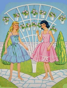 Paper Dolls~Garden Party - Bonnie Jones - Picasa Web Albums