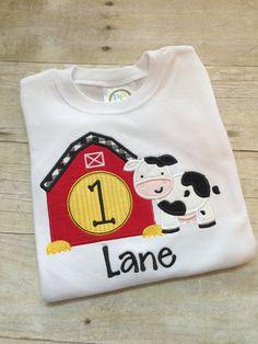 3875460ec Farm Birthday shirt - Farm Birthday outfit - Boys birthday shirt - Boys  birthday outfit - Cow shirt