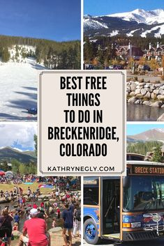 12 fun, free family friendly things to do in Breckenridge, Colorado! Here's a list of ideas you can't miss on your visit to this quaint town! Travel on a budget! Colorado Springs, Brekenridge Colorado, Keystone Colorado, Colorado Winter, Visit Colorado, Living In Colorado, Colorado Mountains, Free Things To Do, Summer Winter
