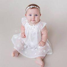 Baby girl christening dress lace christening dress baptism