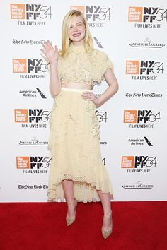 Actress Elle Fanning attends the premiere of '20th Century Women' at the 54th New York Film Festival on October 8 2016 in New York City